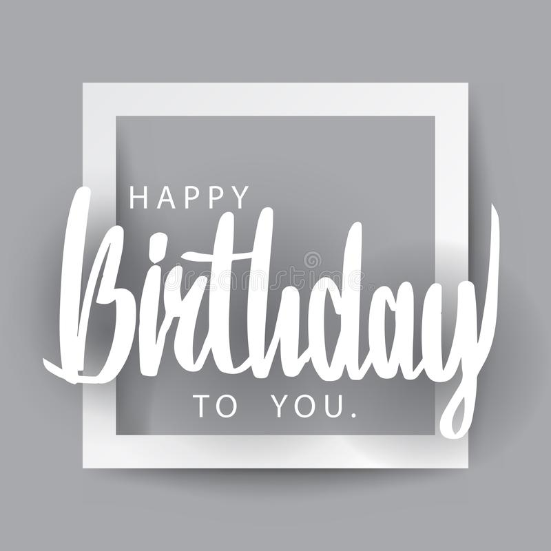 Joyeux anniversaire l'inscription comme le papier a coupé l'art, illus de vecteur illustration de vecteur