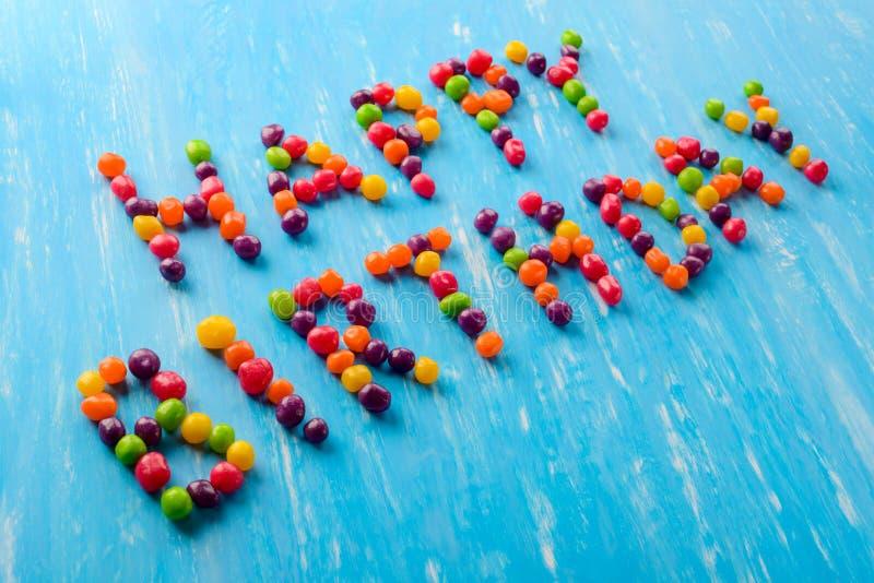 Joyeux anniversaire multicolore photographie stock libre de droits