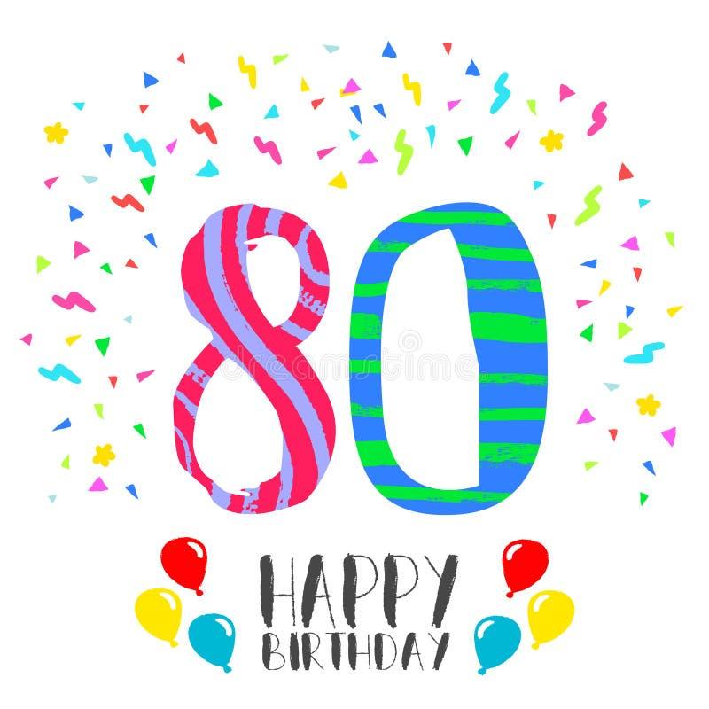 Extrêmement Joyeux Anniversaire Pour La Carte D'invitation De Partie De 80 Ans  KH21