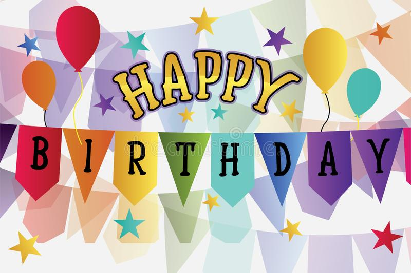 Joyeux anniversaire illustration libre de droits