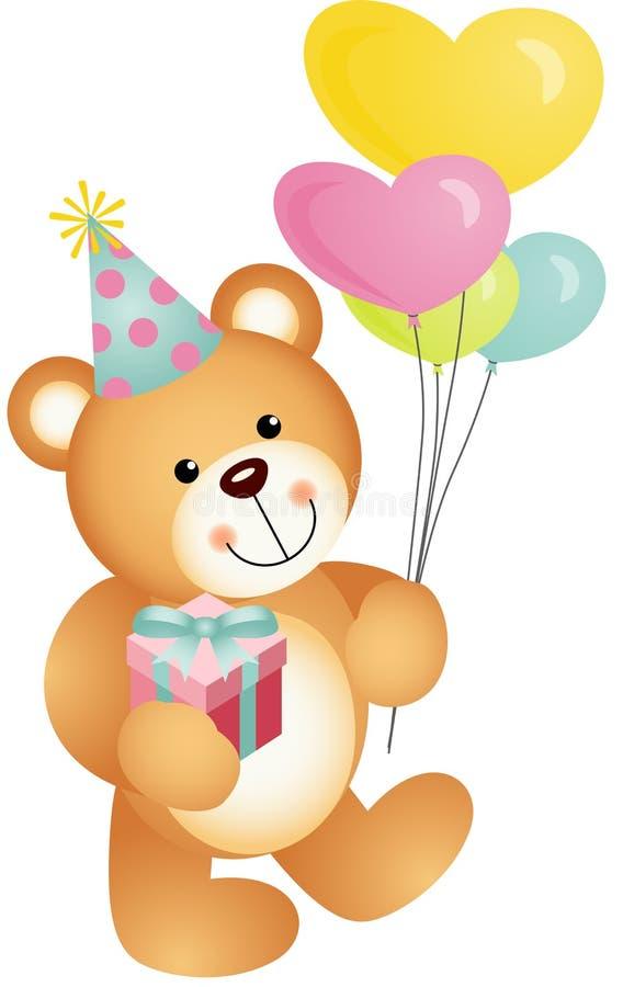 Joyeux anniversaire Teddy Bear illustration stock