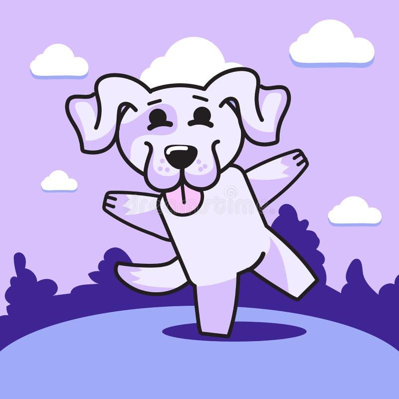 Joyeux chien pourpre photographie stock libre de droits