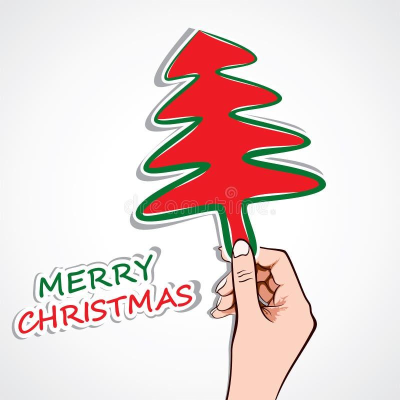 Joyeux Noël à disposition illustration de vecteur