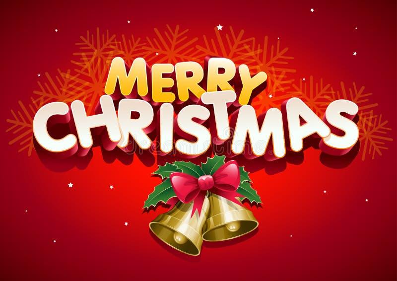 Joyeux Noël. illustration stock