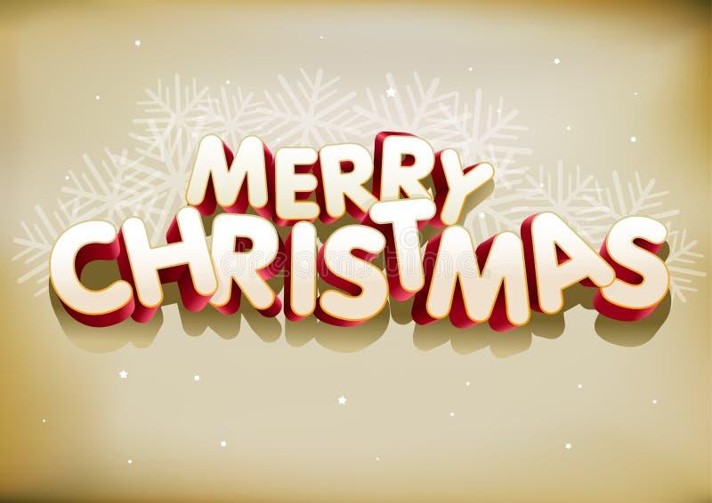 Joyeux Noël 3D illustration de vecteur