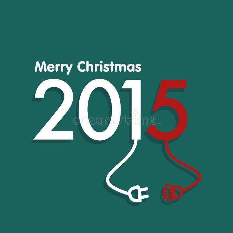Joyeux Noël 2015 illustration stock