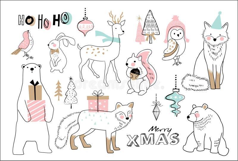 Joyeux Noël illustration de vecteur