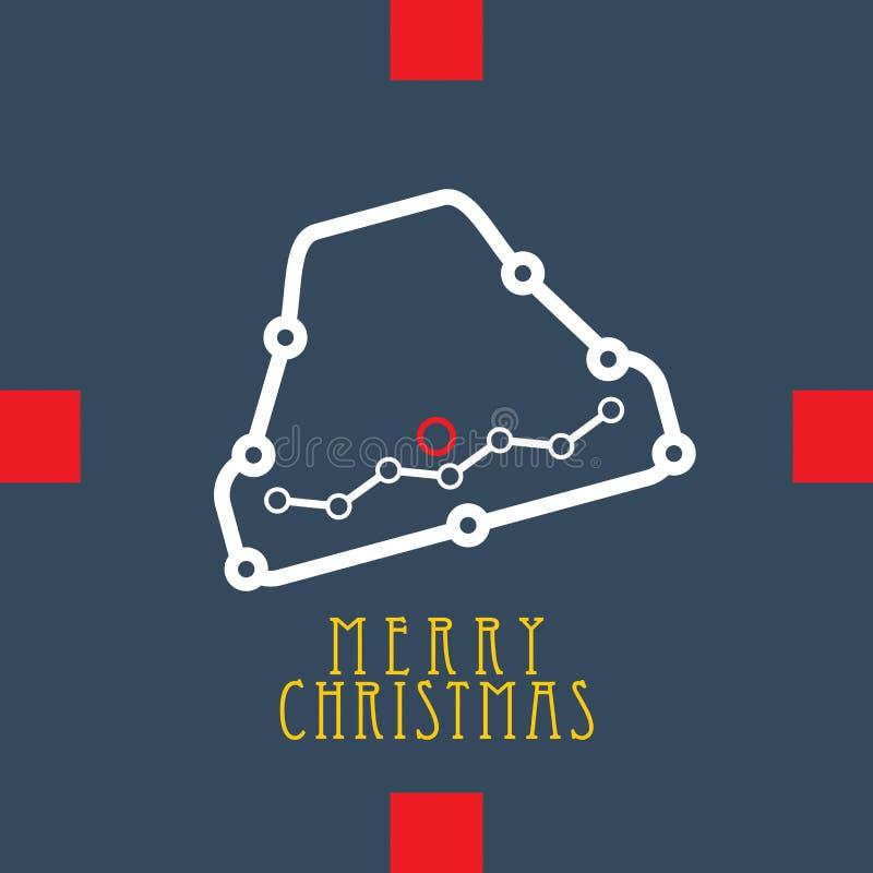Joyeux Noël, abstrait illustration stock