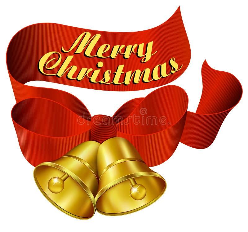 Joyeux Noël Bells illustration libre de droits