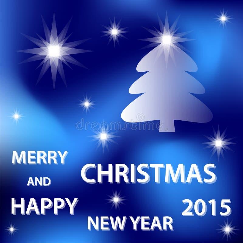 Joyeux Noël bleu illustration libre de droits