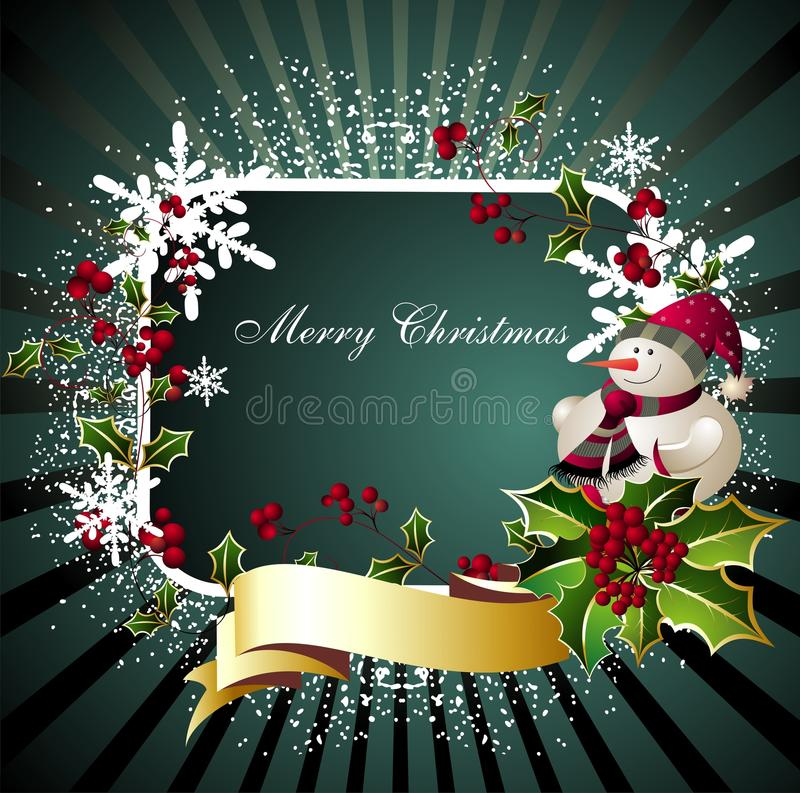 Joyeux Noël card2 illustration stock