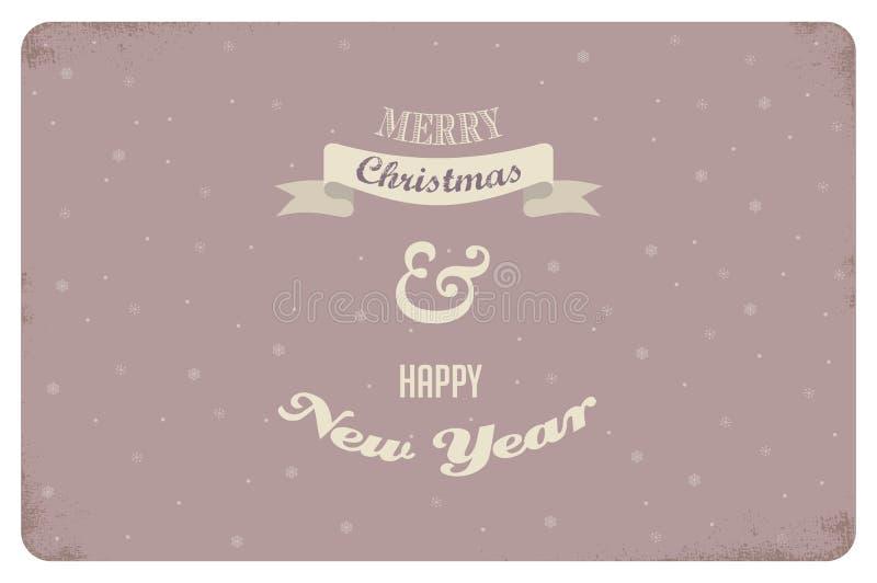 Joyeux Noël Conception de carte de cru Vecteur illustration stock