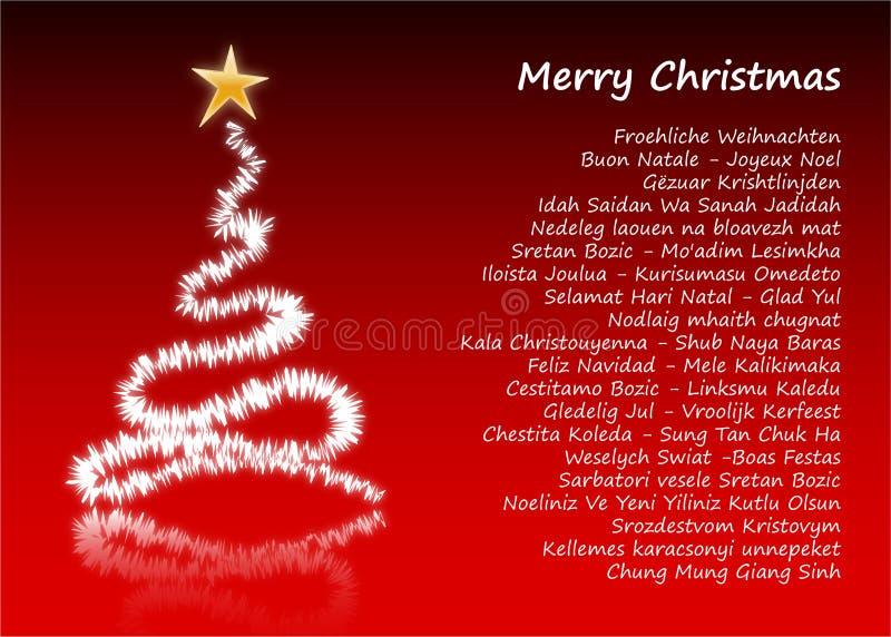 Joyeux Noël dans 31 langages différents illustration stock