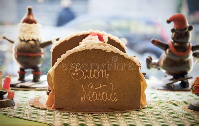 Joyeux Noël dans de langue italienne, Buon Natale photos stock