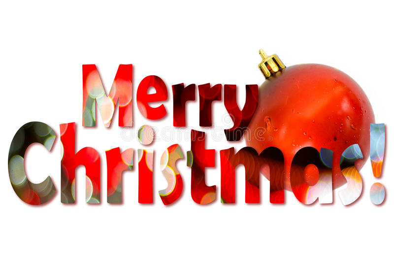 Joyeux Noël de fête image libre de droits