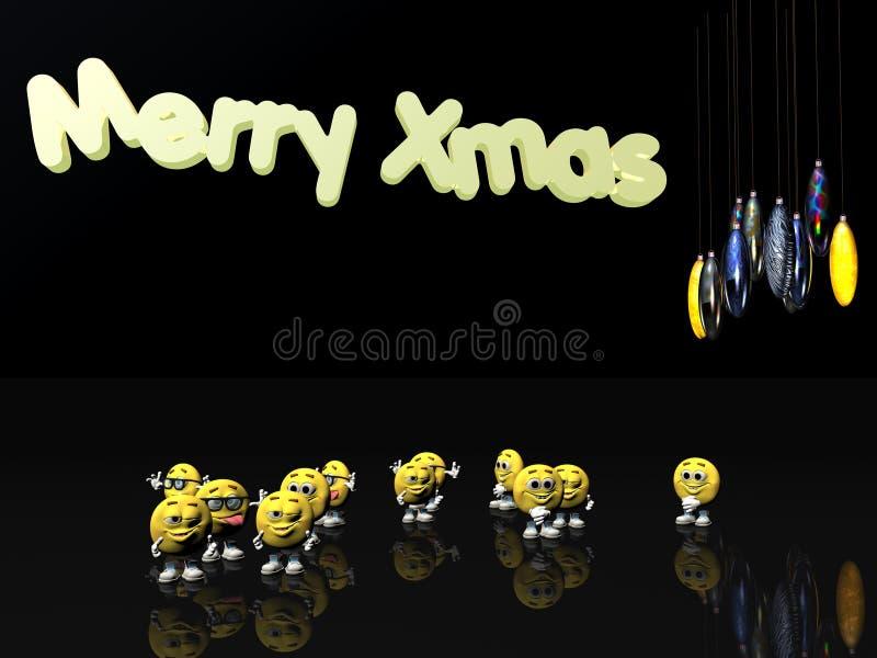 Joyeux Noël des émoticônes illustration stock