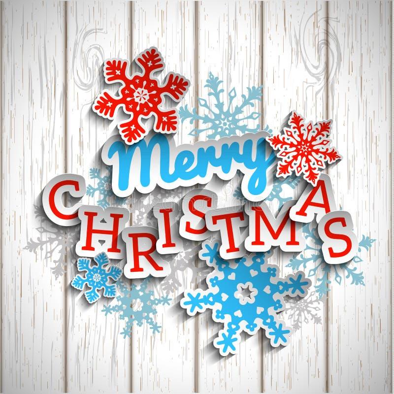 Joyeux Noël des textes décoratifs colorés sur le blanc illustration libre de droits