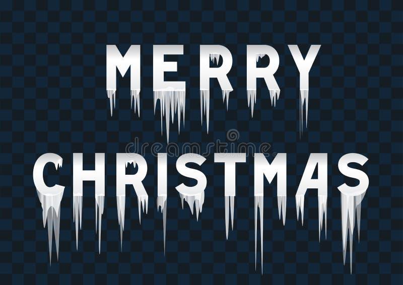 Joyeux Noël des textes gelés illustration libre de droits
