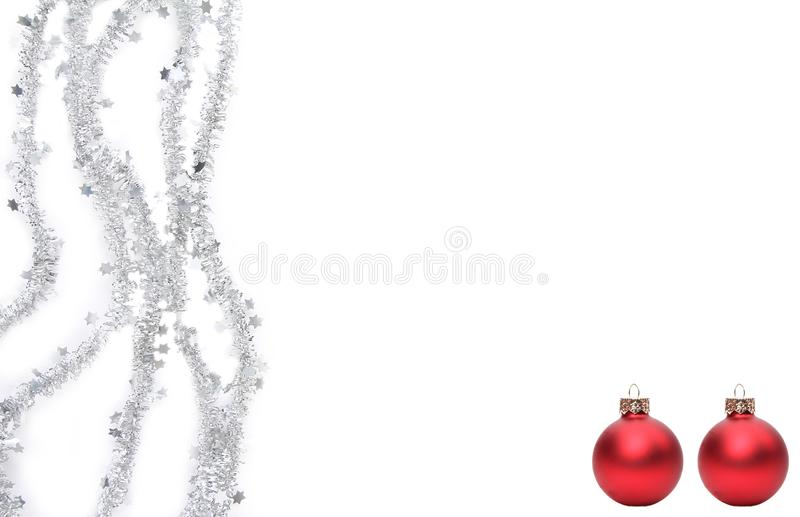 Joyeux Noël devant un fond blanc image stock