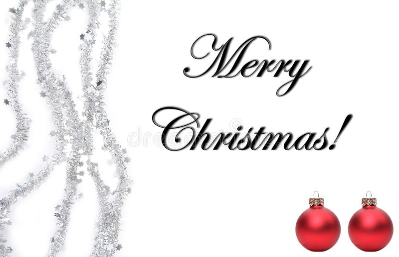 Joyeux Noël devant un fond blanc image libre de droits