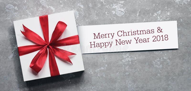 Joyeux Noël et bonne année 2018 photo stock