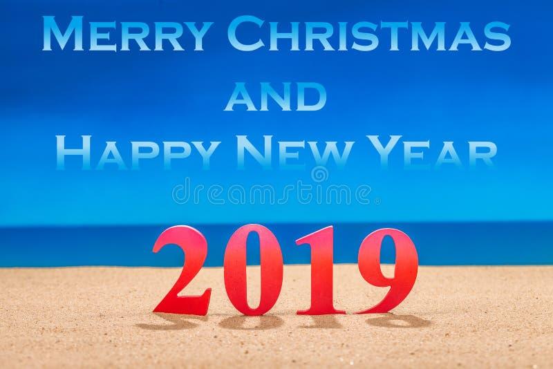 Joyeux Noël et bonne année 2019 photo stock