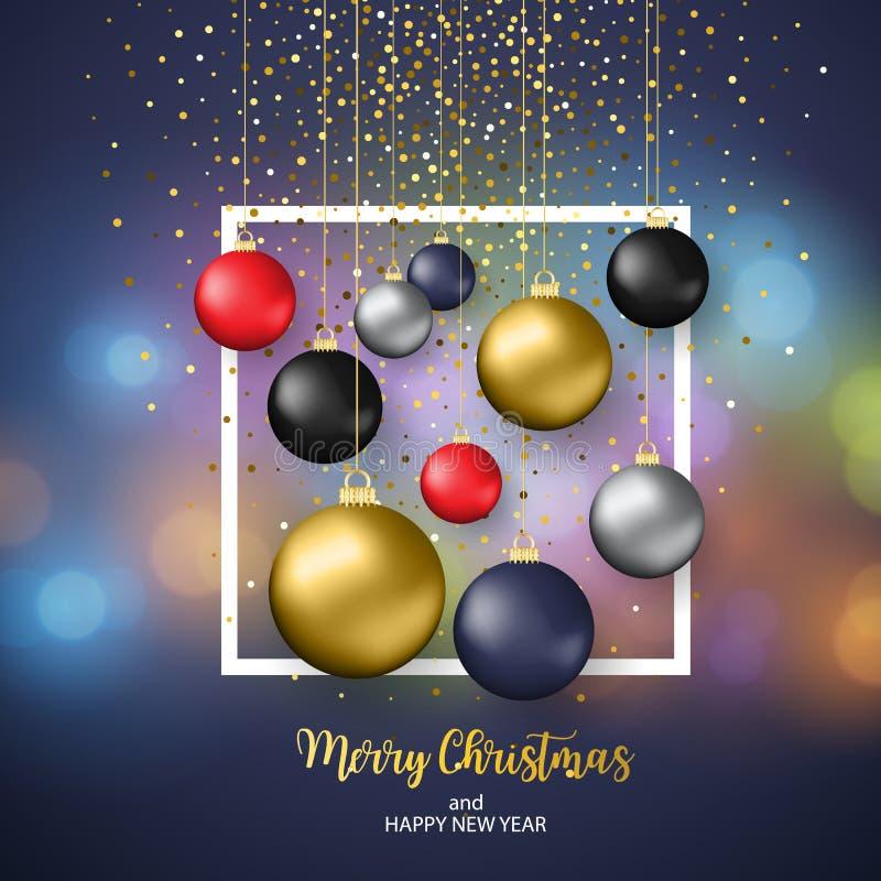 Joyeux Noël et bonne année illustration libre de droits