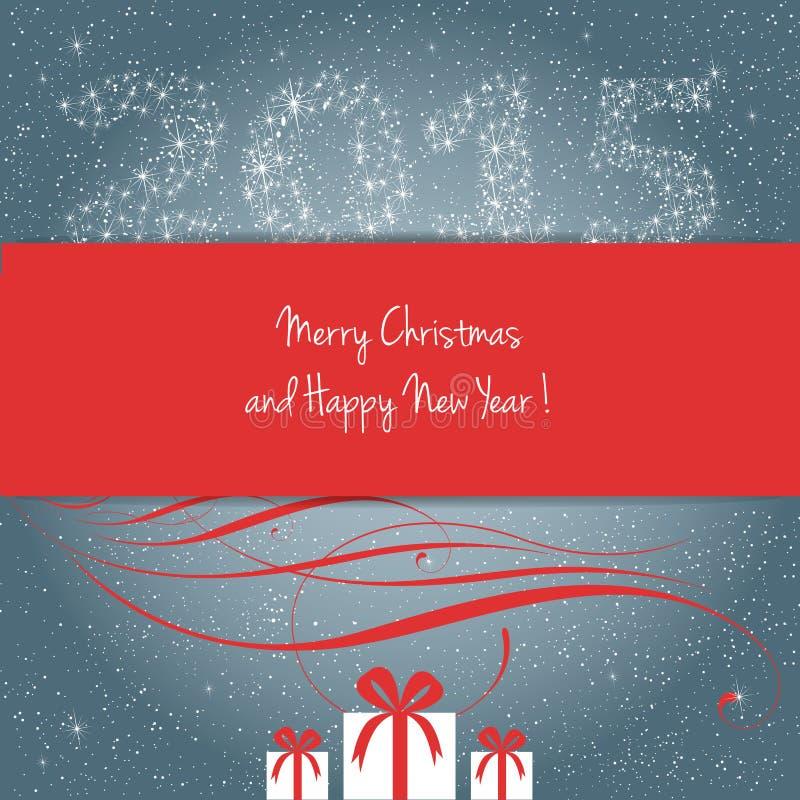 Joyeux Noël et bonne année 2015 ! illustration libre de droits