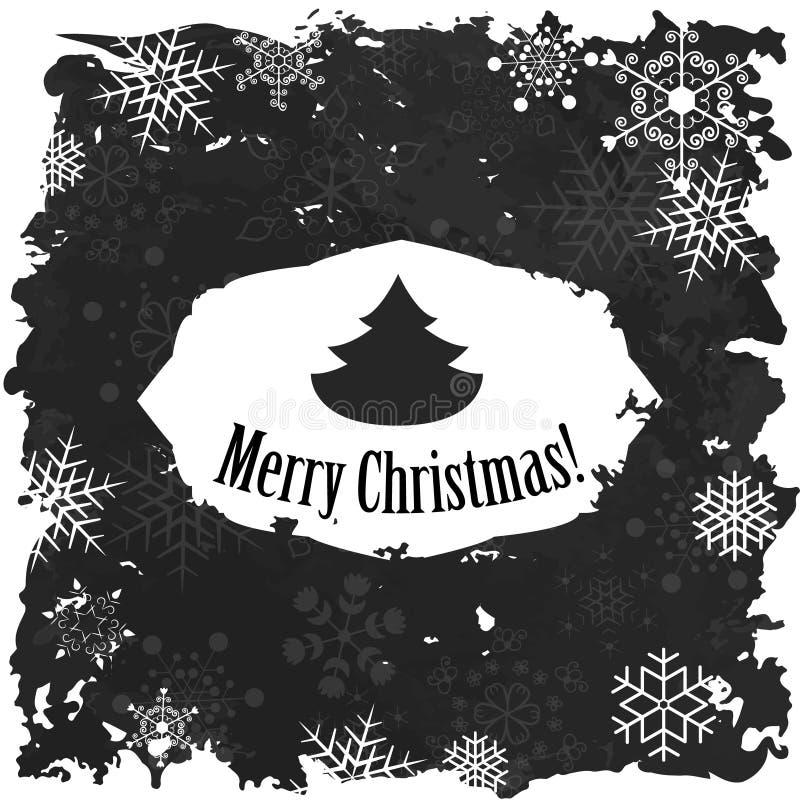 Joyeux Noël et bonne année de vintage illustration libre de droits