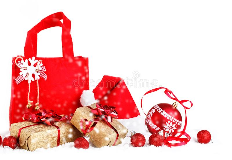 Joyeux Noël et bonne année Un fond du ` s de nouvelle année avec des décorations de nouvelle année Carte du ` s de nouvelle année photos stock