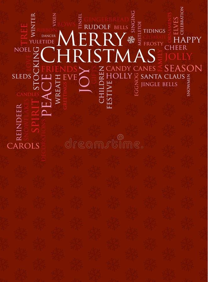 Joyeux Noël et d'autres mots de vacances illustration libre de droits