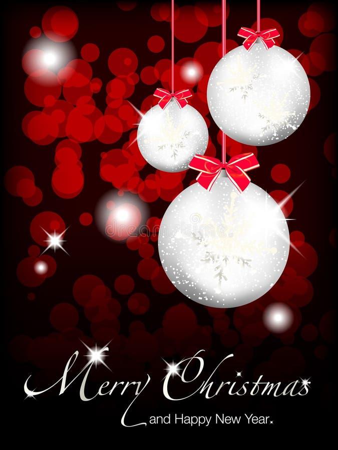 Joyeux Noël et an neuf heureux illustration stock
