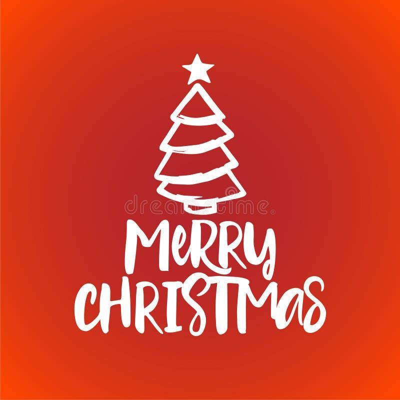 Joyeux Noël - expression de calligraphie pour Noël illustration libre de droits