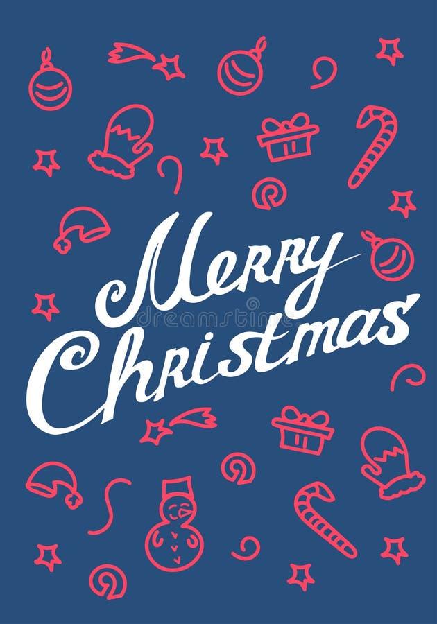 Joyeux Noël - lettrage calligraphique pour la carte de voeux Vect illustration libre de droits