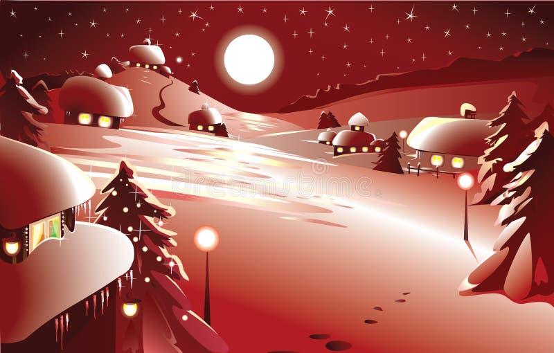Joyeux Noël ! An neuf heureux ! dans la couleur rouge illustration stock