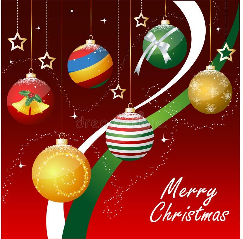 Joyeux Noël, ornements illustration libre de droits