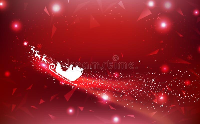 Joyeux Noël, polygone, dispersion de triangle avec des comètes dans le PS illustration de vecteur