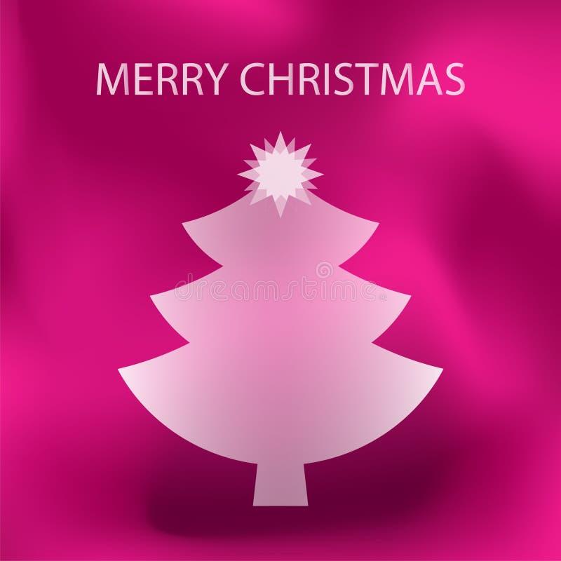 Joyeux Noël rose illustration stock