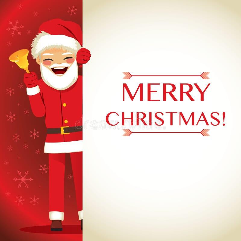 Joyeux Noël Santa Claus Banner illustration stock