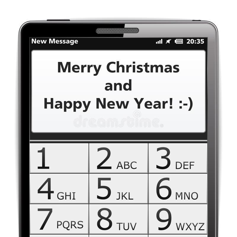 Joyeux Noël SMS illustration stock