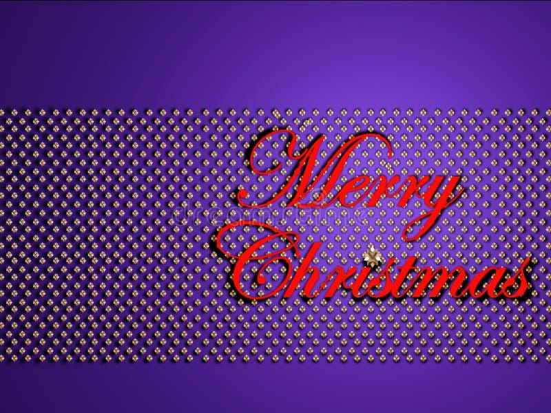 Joyeux Noël sur des étoiles illustration stock