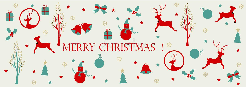 Joyeux Noël, titre de Web de Noël illustration de vecteur