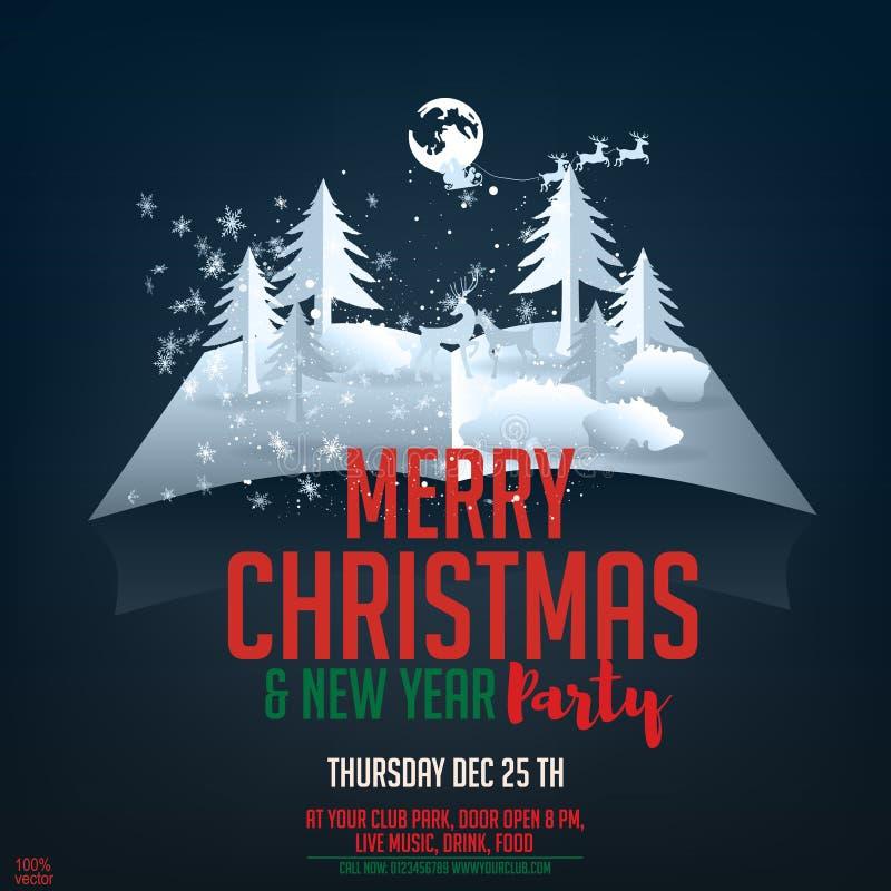Joyeux Noël 2019 vacances et bonne année de vecteur illustration libre de droits