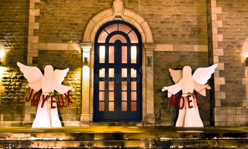 Joyeux Noel royaltyfri fotografi