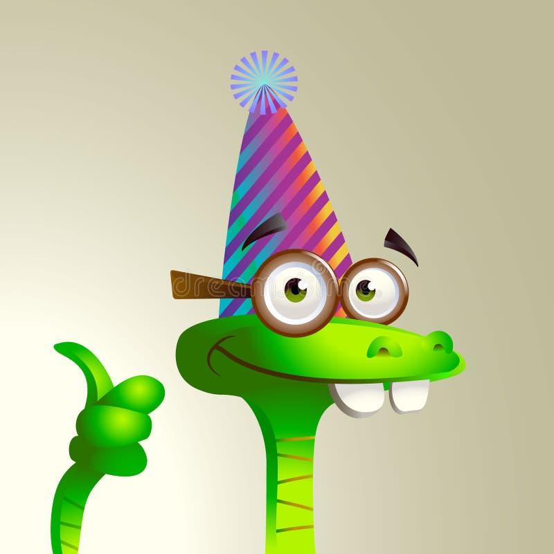 Joyeux serpent de fête. illustration stock