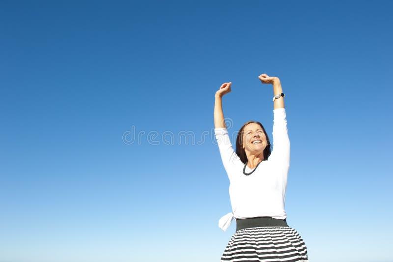 Joyful Active Senior Woman Stock Image