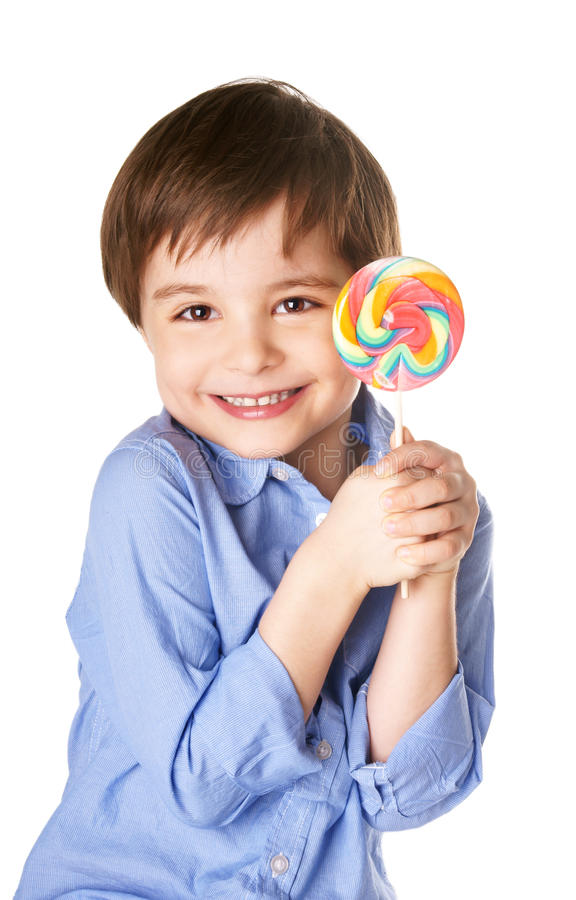 Download Joyful boy stock photo. Image of clothed, lollipop, look - 28047194