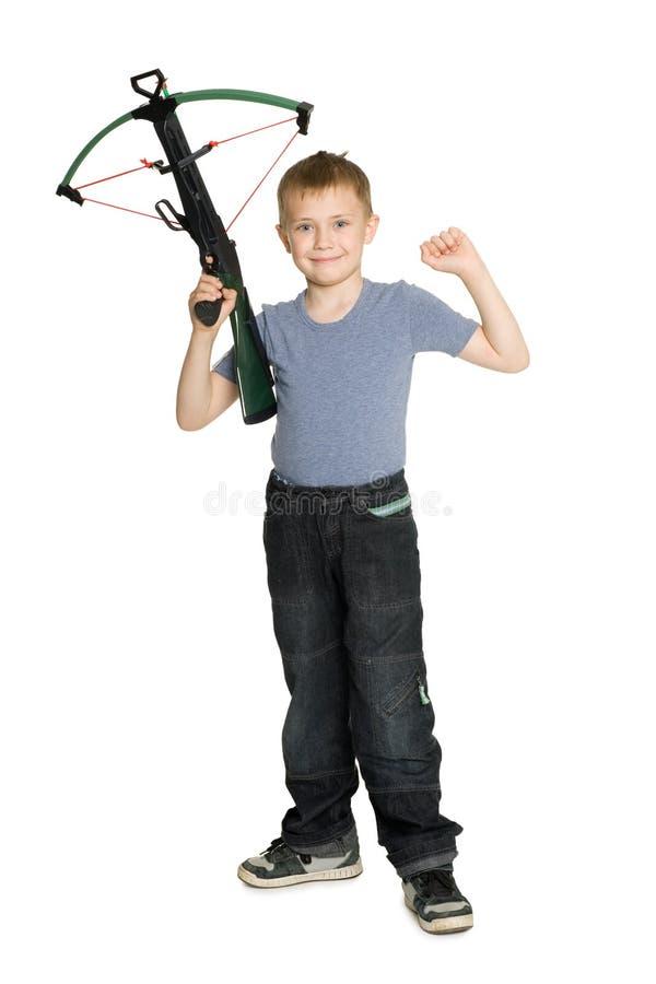 Download Joyful Boy Holding A Crossbow Stock Photo - Image: 19844376