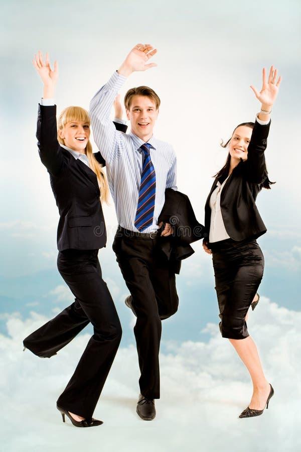 Joyful business people royalty free stock photo
