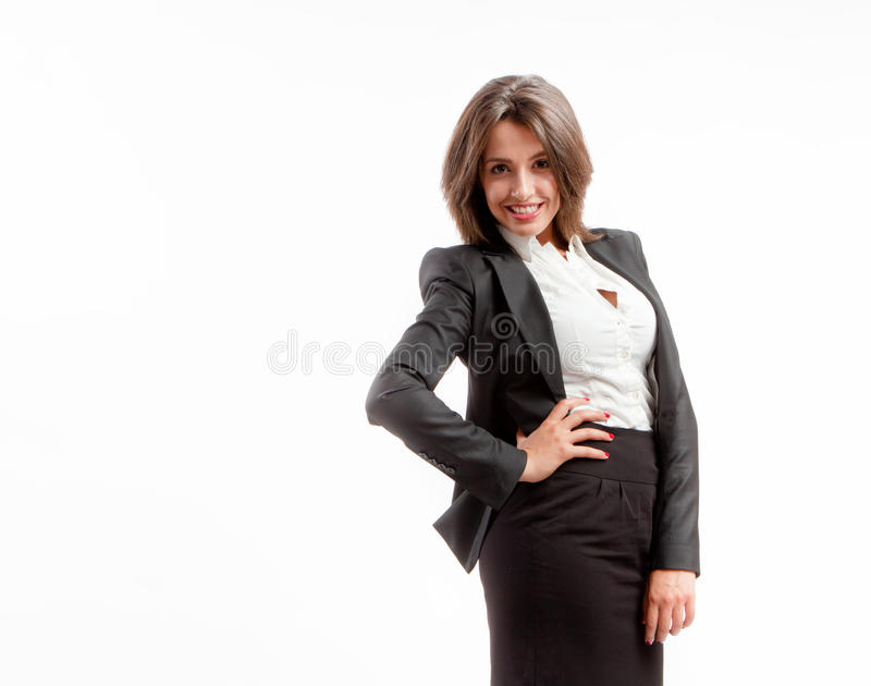 Joyful business woman royalty free stock images